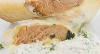 rollitos de salmon crujientes