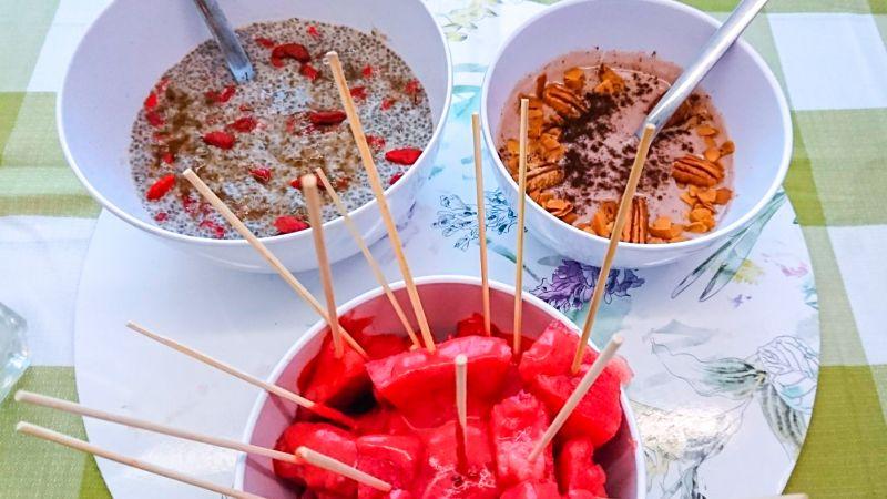 desayuno healthy fruta y cereales