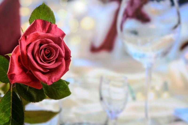 mesa cena romantica